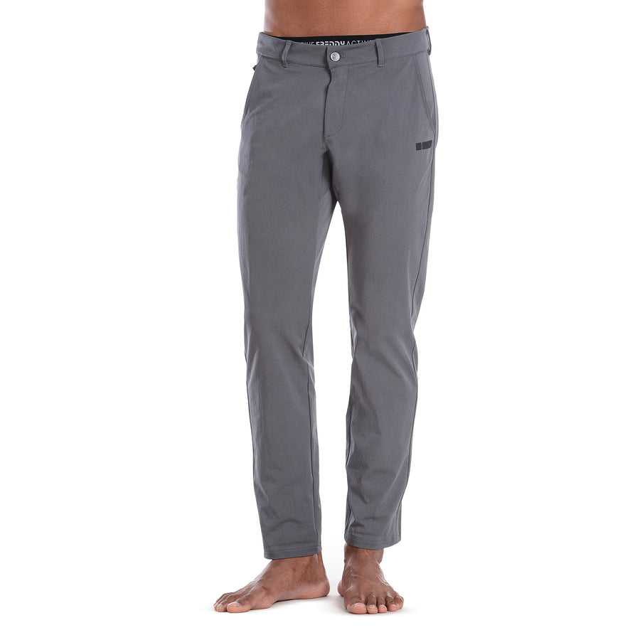 FREDDY PRO Fit Chino Pants 24/7 - Dark Grey - LIVIFY  - 1