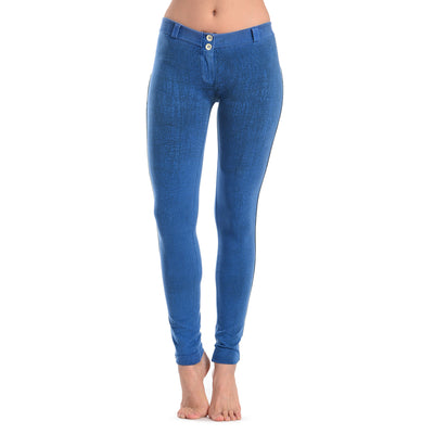 FREDDY WRUP CRACKLE PANTS - Blue - LIVIFY  - 2