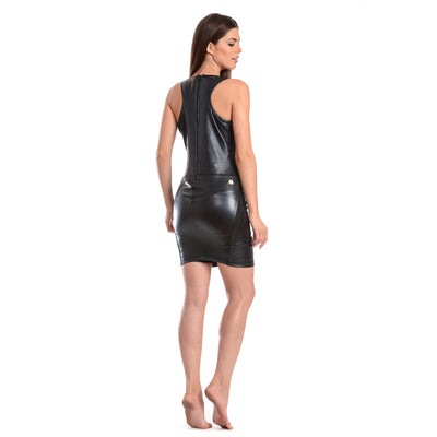 FREDDY WR.UP ECO LEATHER DRESS - Black - LIVIFY  - 2