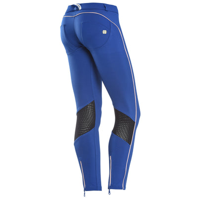 Freddy WR.UP Zip Contrast Ankle Piping Pant Skinny- Blue - LIVIFY  - 1