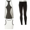 FREDDY WR.UP SPORT PANT + TOP + TANK - Black/Silver - LIVIFY  - 2