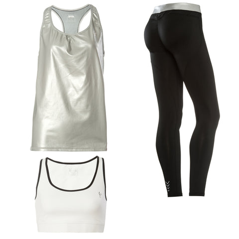 FREDDY WR.UP SPORT PANT + TOP + TANK - Black/Silver - LIVIFY  - 1