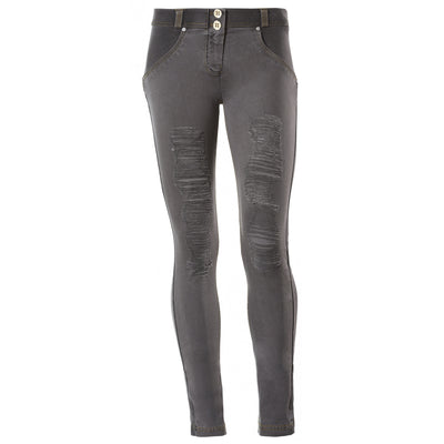 Freddy WR.UP Ripped Front Skinny - Black - LIVIFY  - 2
