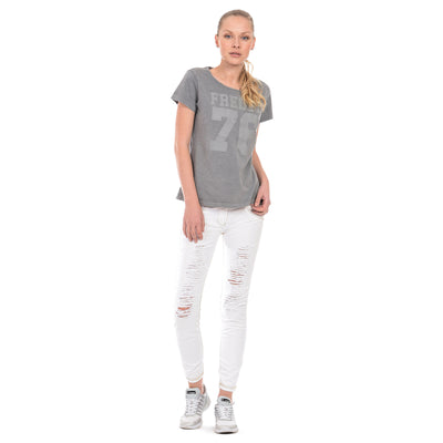 Freddy WR.UP® Ripped Front Denim Low Rise Skinny - White