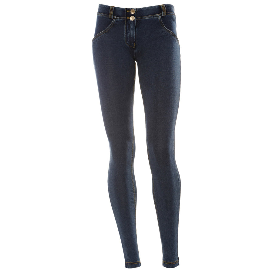 Freddy WR.UP® Denim Low Rise Skinny - Dark Rinse + Yellow Stitching