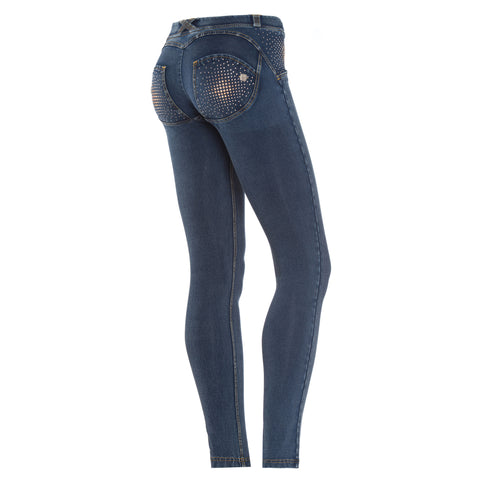 FREDDY WRUP SWAROVSKI CRYSTAL DENIM EFFECT - Dark - LIVIFY  - 1