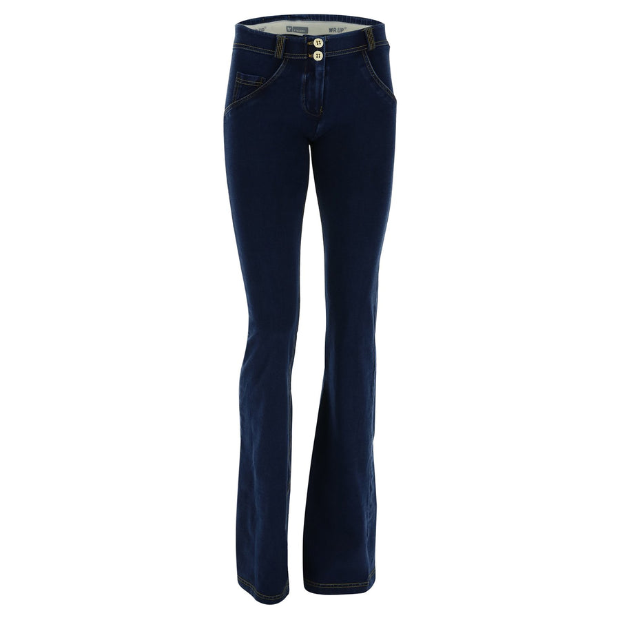 Freddy WR.UP® Denim Regular Rise Slim Flare - Dark Rinse + Yellow Stitching
