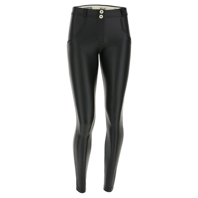 Freddy WR.UP® Eco Leather Regular Rise Super Skinny - Black