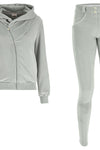 Velvet WR.UP® Tracksuit Set - Hood Jacket with Pant - Grey