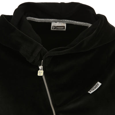 Freddy Velvet Zip Hood Jacket + WR.UP® Pant- Black