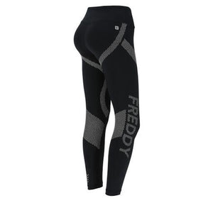 Superfit Sport Pant - High Rise Ankle Print - Black
