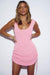 Byron Dress - Knit Scoop Back - Pink