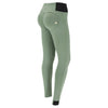 Freddy WR.UP® High Rise Dual Zip Nylon Pant - Olive