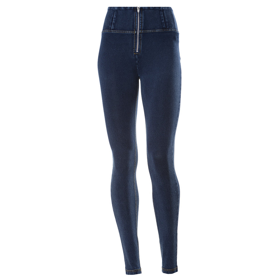 Freddy WR.UP® Denim High Rise Skinny - Dark Rinse + Yellow Stitching