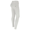WR.UP® 3 Button Eco Leather - Mid Rise Full Length - White