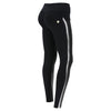 Freddy WR.UP® Side Stripe Mid Rise Pant - Black