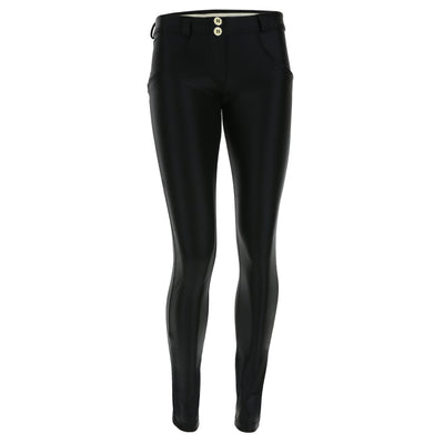 Freddy WR.UP® Lurex Effect Regular Rise Skinny - Black