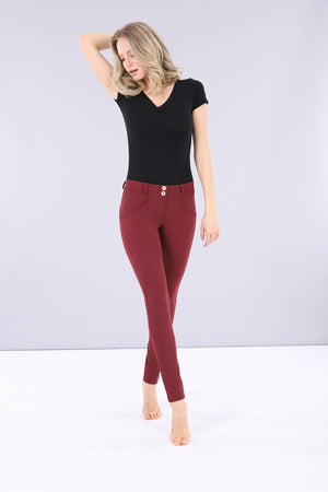 WR.UP® D.I.W.O.® Fashion Pant - 2 Tone Mid Rise Nylon - Bordeaux