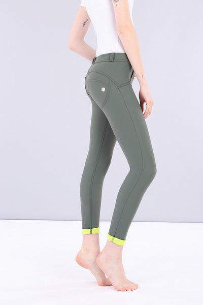 Freddy WR.UP® D.I.W.O.® 2 Tone Nylon Regular Rise Pants - Green