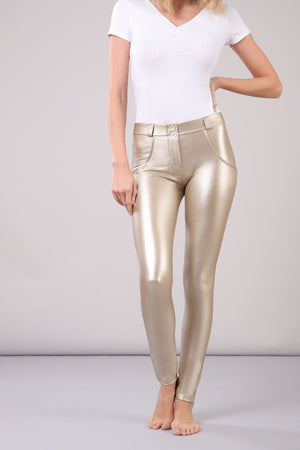 WR.UP® Fashion - Classic Rise Full Length Metalic - Gold
