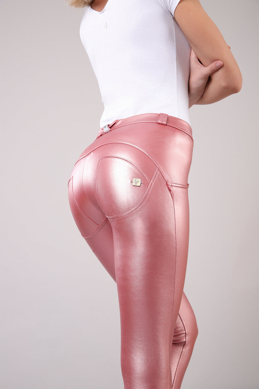 Freddy WR.UP®  Metallic Regular Rise Super Skinny Pants - Pink
