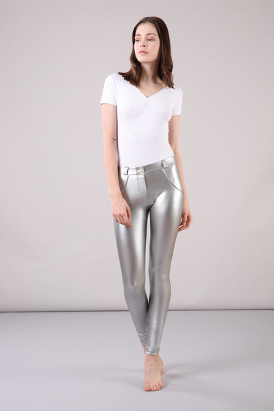 WR.UP®  Metalic - Regular Rise Super Skinny - Silver