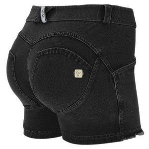 WR.UP® Denim Shorts - Classic Rise - Black Rinse