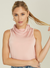 Mask & Turtle-Neck Tank - Pink