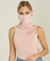 Turtle-Neck Tank - Mask Feature - Pink