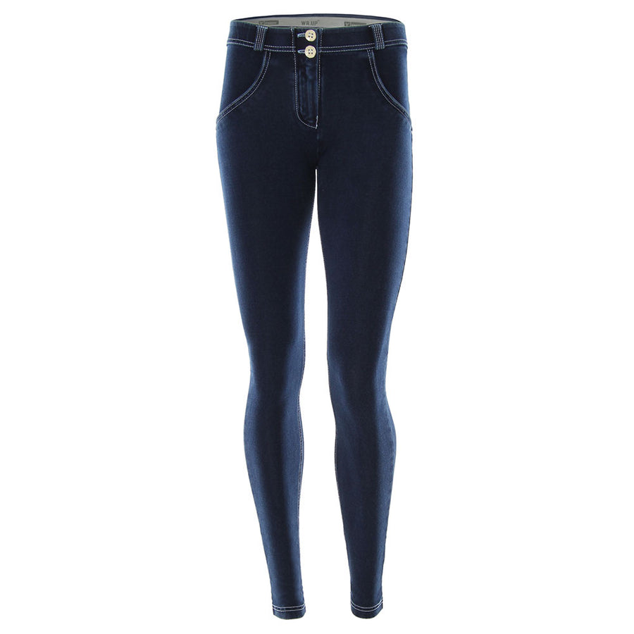 Freddy WR.UP® Denim Regular Rise Skinny - Dark Rinse + White Stitching