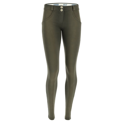 Freddy WR.UP® Sanded Effect Regular Rise Skinny - Army