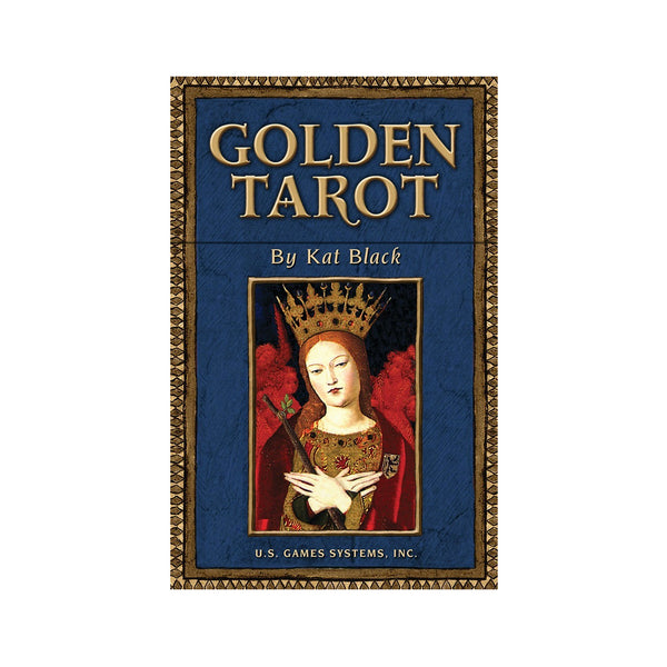 Golden Tarot Card Boxed Set by Kat Black Renaissance Style Tarot Deck