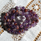 Super Seven Cacoxenite Beaded Power Bracelet 8mm or 10mm Natural Gemstone Beads