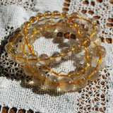 AAA Gold Rutilated Quartz Beaded Power Bracelet