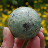 AAA Genuine Green Chrysoprase Crystal Sphere 184g 2""