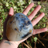 Dendritic Agate Polished Crystal Palm Stone