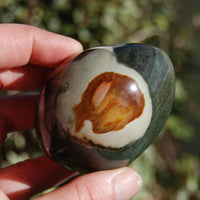 Polychrome Jasper Carved Crystal Palm Stone