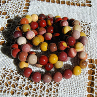 Mookaite Jasper Crystal Bracelet 10mm Natural Gemstone Beads
