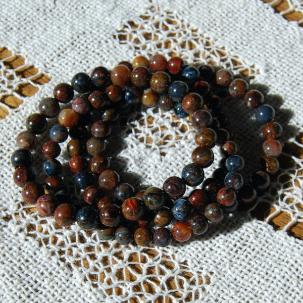 Pietersite Crystal Bracelet 8mm Natural Gemstone Beads