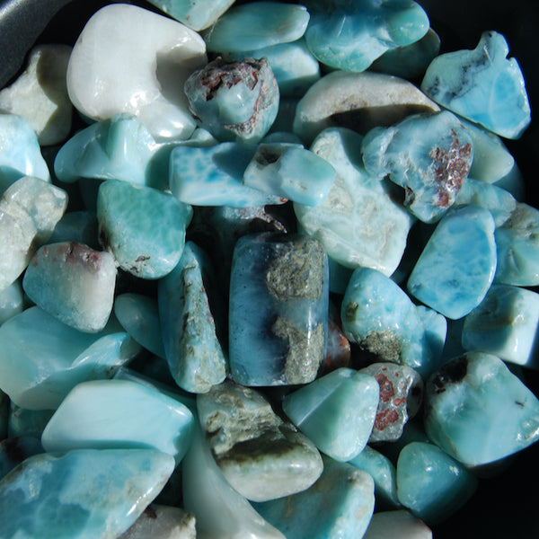 Larimar Crystal Small Tumbled Stones 20 Piece Lot