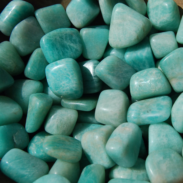 Amazonite Crystal Tumbled Stones