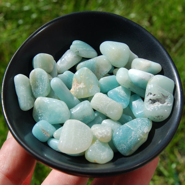 Amazonite Crystal Small Tumbled Stones 20 Piece Lot