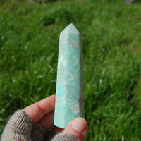 Green Chrysoprase Crystal Tower