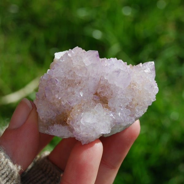 Amethyst Spirit Quartz Crystal Cluster from South Africa