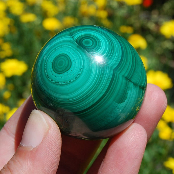 Natural Malachite Crystal Sphere
