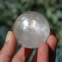 Clear Calcite Crystal Sphere from Iceland