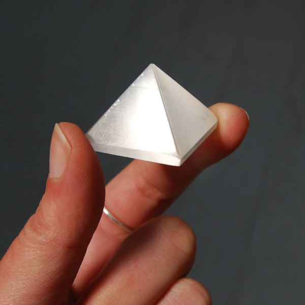 Selenite Crystal Pyramid 25mm to 30mm