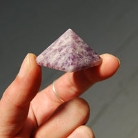 Lepidolite Crystal Pyramid 25mm to 30mm