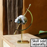 "Crystal Display Stand in Brass 6.5""  Perfect for Spheres and Crystal Skulls"