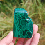 "2.5"" 102g Natural Malachite Crystal Polished Slab"